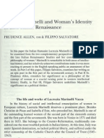 Lucrezia Marinelli and Woman's Identity in Late Italian Renaissance