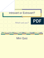 Introvert or Extrovert