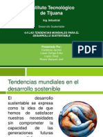 4.4 Las Tendencias Mundiales Para El Desarrollo Sustentable
