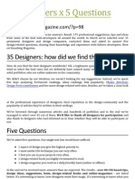 35 Designers x 5 Questions