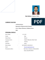 Resume of Bijo Mathew