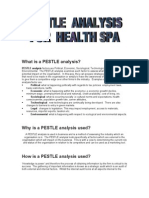 Pestle Analysis of Health Spa