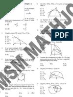 Smsm Relaciones Metricas en Triangulo Rectangulo, La Circunferencia y Oblicuangulos
