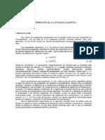 Determinación de la capacidad calórica - Fisicoquímica I