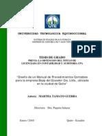 Diseño de un Manual de Procedimientos Contables