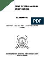 S3 Mech CAD Lab Manual