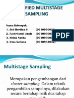 Stratified Multistage Sampling