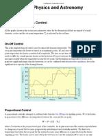 Feedback and Temperature Control