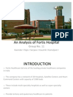 Analysis of Fortis Healthcare
