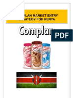 Report for MEA Heinz Complan's Market Entry Strategy in Kenya
