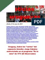 Noticias Uruguayas sábado 25 de mayo del 2013