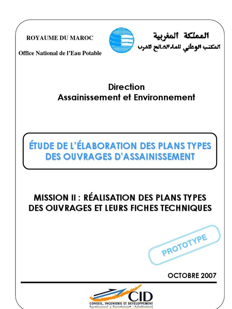 Ouvrages types assainissement onep maroc 2007 1 - Office national de l eau et des milieux aquatiques ...