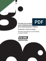 Acuerdo de noviembre de 2002 para la Modernización y Mejora de la Administración Publica