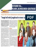 Artikel HBVL 04/05/2013 - Jeugd trekt naar verenigingen om beleid bij te sturen.