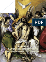 I y II Vísperas de la Fiesta de la Santísima Trinidad. Forma Extraordinaria del Rito ROmano