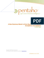 A New Business Model for Business Intelligence