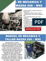 2001 Mazda 626 Manual de Taller y Servicio