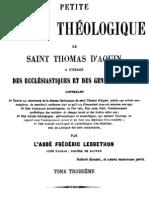 Petite Somme Theologique de Saint Thomas d Aquin