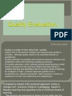 Quality Evaluation Presentation