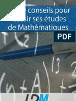 Les 10 conseils pour réussir ses études de Mathématiques