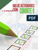 Cronograma de actividades y evaluación del curso 9