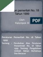 AMDAL PP NO.18 THN 1999