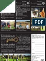 Border Archaeological Society leaflet