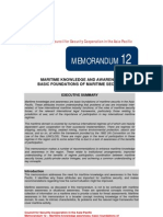 CSCAP Memo No. 12 - Maritime Knowledge and Awareness, Basic Foundations of Maritime Security