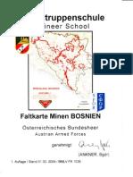 Pioniertruppenschule - Faltkarte Minen BOSNIEN (Mar 2004)