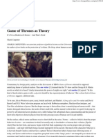 Game of Thrones as Theory