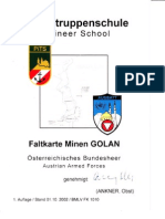 Pioniertruppenschule - Faltkarte Minen GOLAN (Okt 2002)