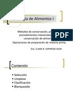 operaciones de preparacion de materia primaTecnologia de Alimentos I.pptx