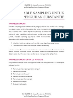 AUDITING (Variable Sampling Untuk Pengujian Substantif)