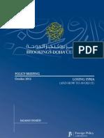 Losing Syria (Brookings Doha Center)