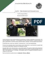 Kung Fu - Los Tres Elementos Fundamentales