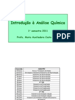 Aula 1 Intro. Quim. Analitica Alunos 2011.2