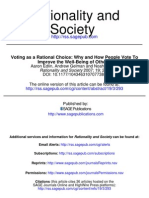 Voting as a Rational Choice