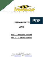 Listino Pinasco Italia 2012