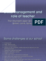 Class Management and Role of Teach e Norway