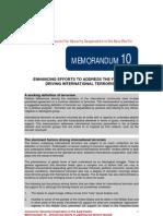CSCAP Memo No. 10 - Enhancing Efforts to Address the Factors Driving International Terrorism
