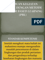 Panduan Kegiatan Diskusi Dengan Metode Problem Based Learning