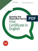 Speaking Test Preparation Pack
