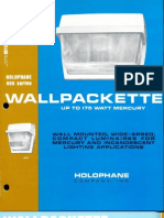 Holophane Wallpackette Series Brochure 1971