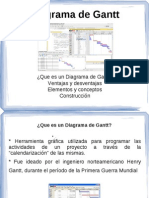 Diagramas de Gantt