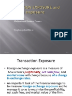 Transaction and Operating Exposure