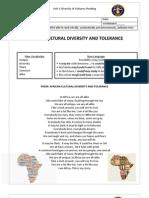 Guía Reading 11th grade Diversity of Cultures
