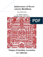 The Quintessence of Secret Esoteric Buddhism Revised Edition 2008