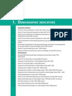 Demographic Indicators-National Health Profile