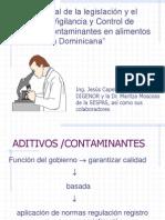 Aditivos Alimentarios en la República Dominicana