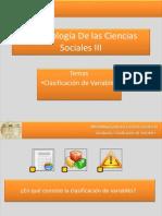 Metodologadelascienciassociales Clasificacion de Las Variables